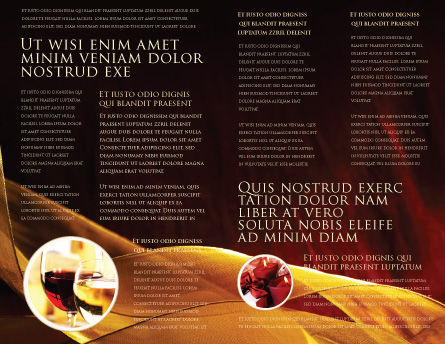 Candle Light Brochure Template, Inner Page, 04239, Religious/Spiritual — PoweredTemplate.com