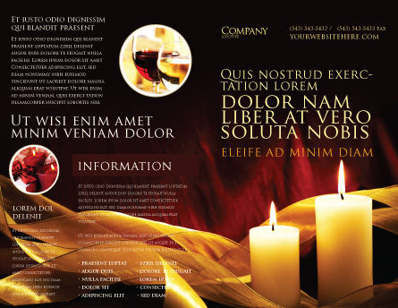 Candle Light Brochure Template, Outer Page, 04239, Religious/Spiritual — PoweredTemplate.com