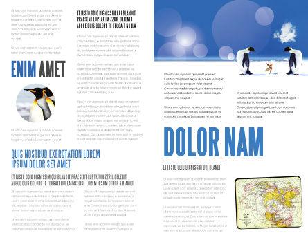 Antarctica Brochure Template, Inner Page, 04240, Nature & Environment — PoweredTemplate.com