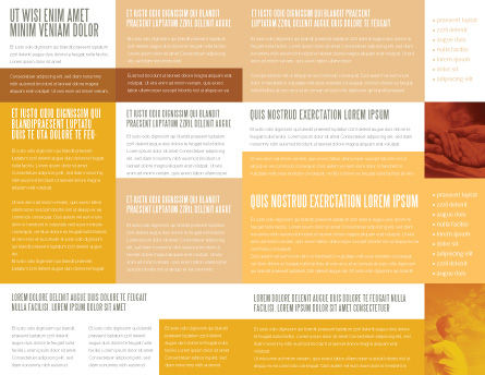 Temptation Brochure Template, Inner Page, 04255, Religious/Spiritual — PoweredTemplate.com