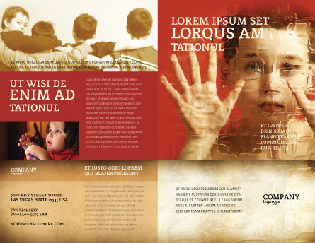 Autism Brochure Template, Outer Page, 04257, Medical — PoweredTemplate.com