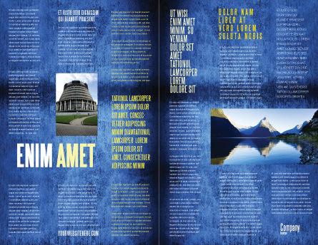 New Zealand Brochure Template, Inner Page, 04258, Flags/International — PoweredTemplate.com