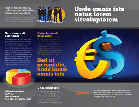 Euro vs. Dollar Brochure Template Outer Page