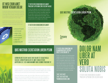 Green Land Brochure Template, Outer Page, 04269, Global — PoweredTemplate.com
