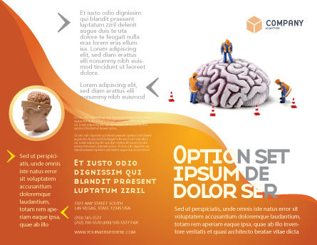 Smart Thinking Brochure Template Outer Page