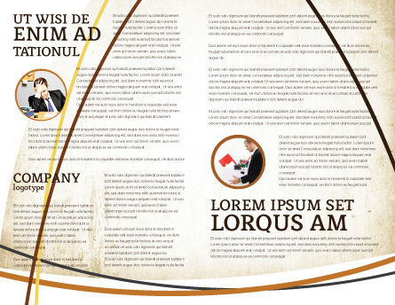 World Crisis Brochure Template, Inner Page, 04282, Careers/Industry — PoweredTemplate.com