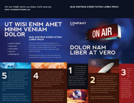 Live Broadcast Brochure Template, Outer Page, 04285, Careers/Industry — PoweredTemplate.com