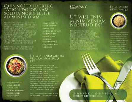 Flatware Brochure Template, Outer Page, 04286, Careers/Industry — PoweredTemplate.com