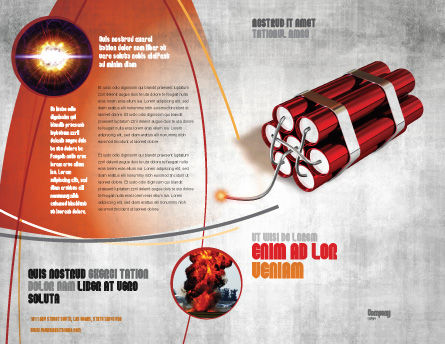 Dynamite Brochure Template, Outer Page, 04287, Military — PoweredTemplate.com