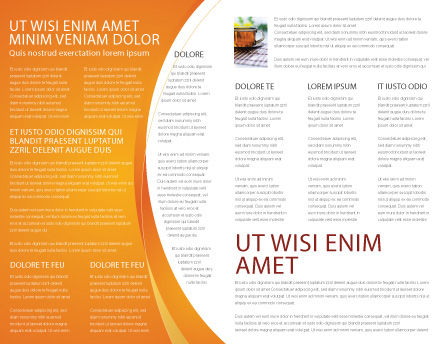 Balanced Nutrition Brochure Template Inner Page