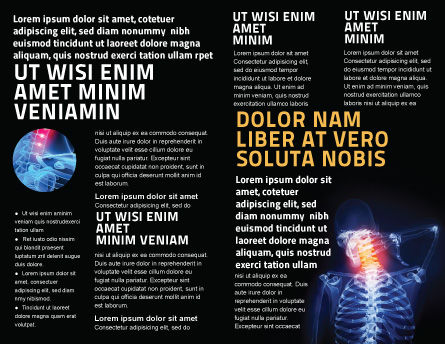 Neck Pain Brochure Template, Inner Page, 04292, Medical — PoweredTemplate.com