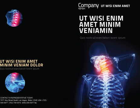 Neck Pain Brochure Template, Outer Page, 04292, Medical — PoweredTemplate.com