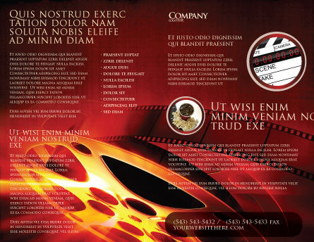 Filmmaking Brochure Template Outer Page