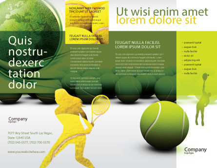 Tennis Balls Brochure Template Outer Page
