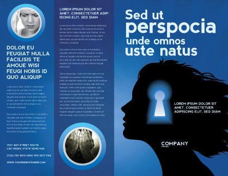 Female Mind Brochure Template Outer Page