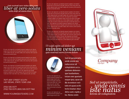 Wireless Phones Brochure Template Outer Page