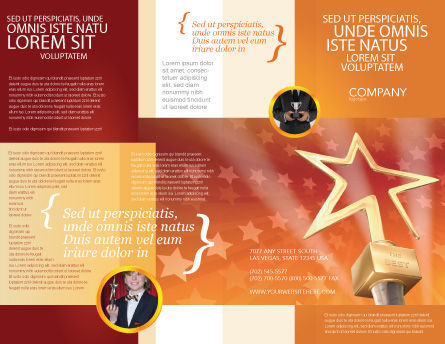 Star Of The Best Brochure Template, Outer Page, 04316, Holiday/Special Occasion — PoweredTemplate.com