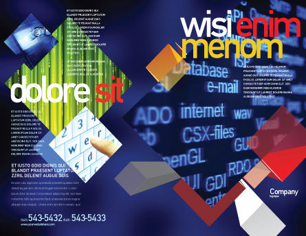 Computer Terms Brochure Template Outer Page