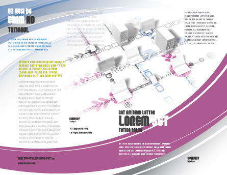 Multicomputer System Brochure Template, Outer Page, 04331, Telecommunication — PoweredTemplate.com