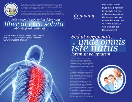 Osteoporosis Brochure Template, Outer Page, 04334, Medical — PoweredTemplate.com