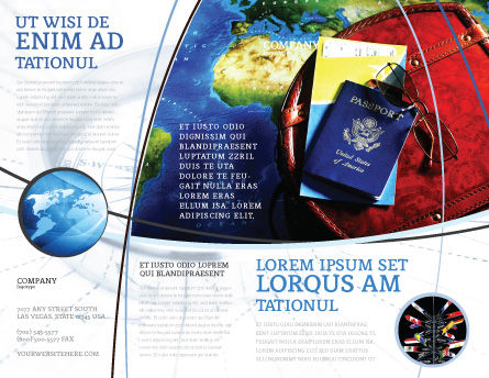 Travel Essentials Brochure Template, Outer Page, 04336, Careers/Industry — PoweredTemplate.com