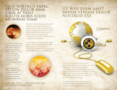 World Connection Brochure Template, Outer Page, 04340, Telecommunication — PoweredTemplate.com