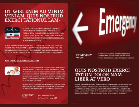 Emergency Sign Brochure Template, Outer Page, 04341, Business Concepts — PoweredTemplate.com