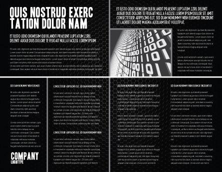 Black Grid Brochure Template Inner Page
