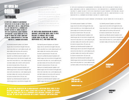 Computer Mouse Connection Brochure Template, Inner Page, 04372, Technology, Science & Computers — PoweredTemplate.com