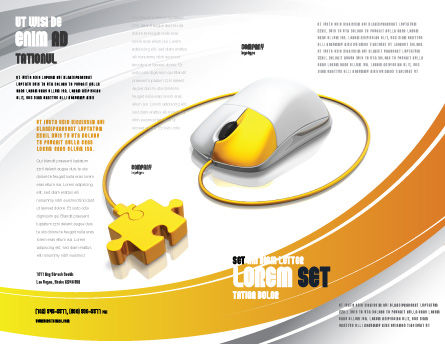 Computer Mouse Connection Brochure Template, Outer Page, 04372, Technology, Science & Computers — PoweredTemplate.com