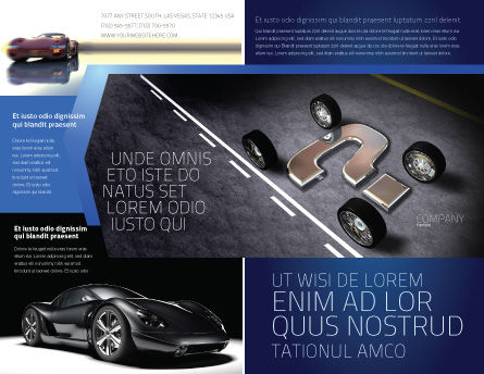 New Automobile Inventions Brochure Template Outer Page