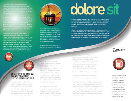 Gasoline Brochure Template, Inner Page, 04391, Careers/Industry — PoweredTemplate.com