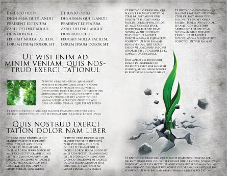 Survival Brochure Template, Inner Page, 04395, Nature & Environment — PoweredTemplate.com