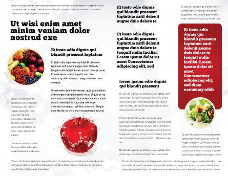 Freshness Brochure Template, Inner Page, 04397, Food & Beverage — PoweredTemplate.com
