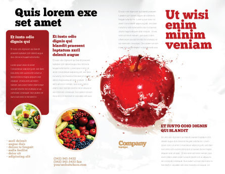 Freshness Brochure Template, Outer Page, 04397, Food & Beverage — PoweredTemplate.com