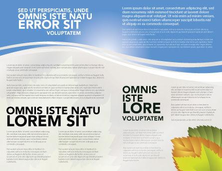 Resource Depletion Brochure Template, Inner Page, 04406, Global — PoweredTemplate.com