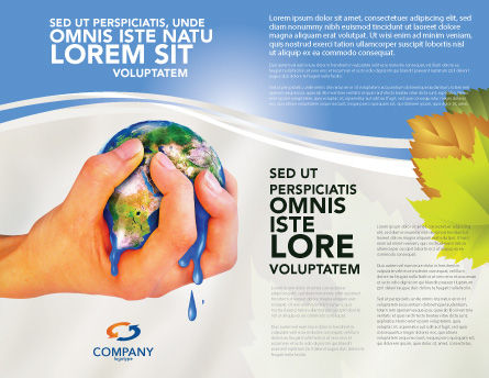 Resource Depletion Brochure Template, Outer Page, 04406, Global — PoweredTemplate.com