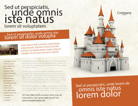 Castle Brochure Template, Outer Page, 04419, Construction — PoweredTemplate.com
