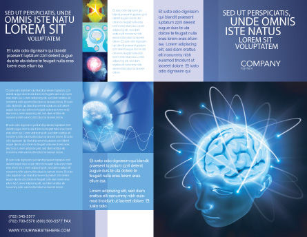 Brain Waves Brochure Template Outer Page