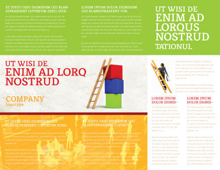 Ladder Brochure Template, Inner Page, 04442, Education & Training — PoweredTemplate.com