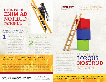 Ladder Brochure Template, Outer Page, 04442, Education & Training — PoweredTemplate.com