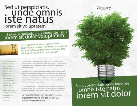 Green Energy Brochure Template, Outer Page, 04448, Nature & Environment — PoweredTemplate.com