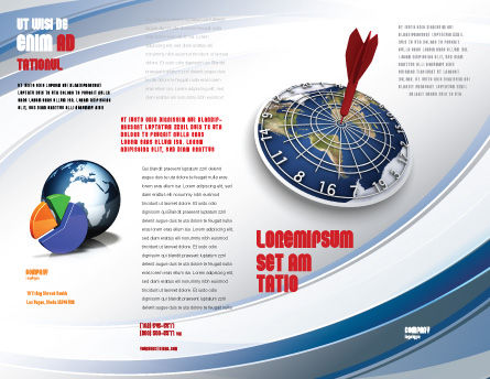 World Target Brochure Template Outer Page