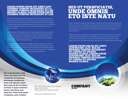 Blue Globe Brochure Template Inner Page