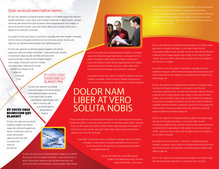 3D Cubes Building Brochure Template Inner Page