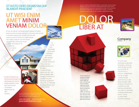 3D Cubes Building Brochure Template Outer Page
