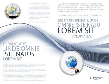 World View Brochure Template, Inner Page, 04472, Global — PoweredTemplate.com