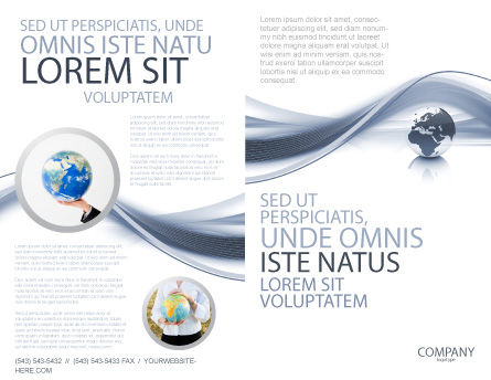 World View Brochure Template, Outer Page, 04472, Global — PoweredTemplate.com