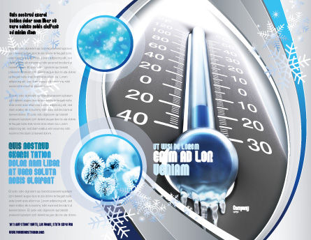Frost Brochure Template, Outer Page, 04481, Nature & Environment — PoweredTemplate.com