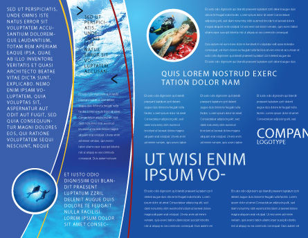 Deep Waters Brochure Template, Inner Page, 04488, Nature & Environment — PoweredTemplate.com